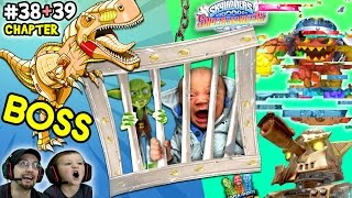 LAVA LANCE CORRUPTOR!  Lets Play SKYLANDERS SUPERCHARGERS Chapter 38 & 39: Wreck O' Saurus DINO Boss