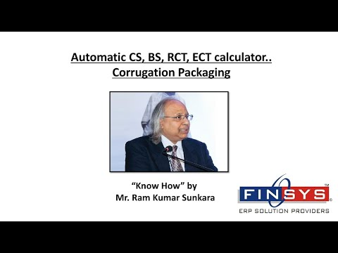 Automatic CS, BS, RCT, ECT calculator..Corrugation Packaging