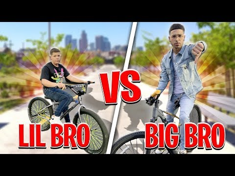 LITTLE BROTHER CALLS ME OUT TO A PEDAL BIKE BATTLE ! | BRAAP VLOGS