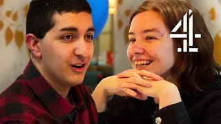 Adorable Guy with Autism Uses Prompt Cards on First Date | The Undateables