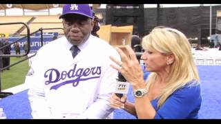 Magic Johnson Introduced as Dodgers Owner by Vin Scully