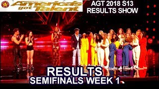 RESULTS Semi-Finals 1 JUDGES SAVE Voices of Hope Duo Transcend  America's Got Talent 2018 AGT