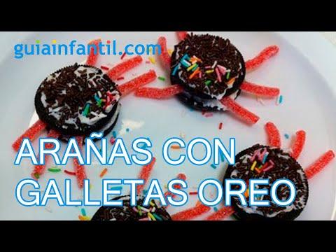 Recetas de Halloween, Arañas con galleta Oreo