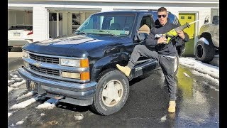 TAKING A SAW to the Blazer... $5 DIY Exhaust Sounds EPIC!!!