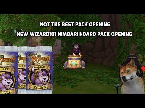 NEW WIZARD101 NIMBARI HOARD PACK OPENING! - смотреть онлайн