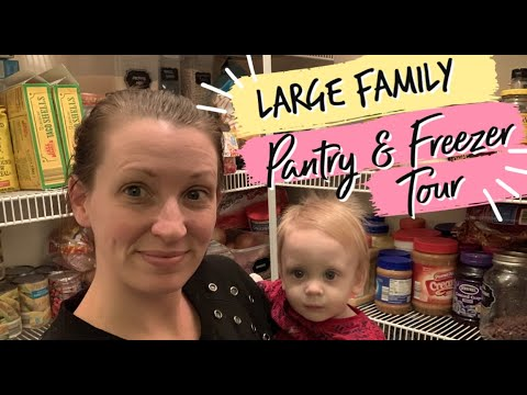 NOVEMBER 2019 BEFORE & AFTER - PANTRY & FREEZER TOUR || FAMILY OF 7 ON A BUDGET