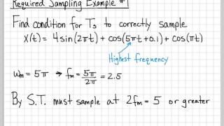 Sampling Signals (9/13) - Required Sampling Examples