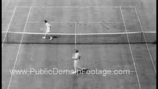 1942  Bobby Riggs Vs Don Budge U. S. Tennis Championships Archival Footage