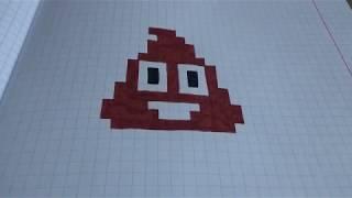 Pixel art emoji poop