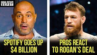 Spotify up $4 billion market cap after Joe Rogan announcement, Eddie Bravo on Tony, Cormier,MMA News