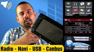 Autoradio mit Navi |  VW Golf Skoda Seat - Canbus | Touchscreen | DVD GPS Radio Bluetooth | AUMUME