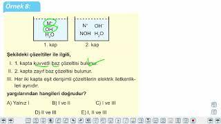 Eğitim Vadisi 10.Sınıf Kimya 15.Föy Moleküler Düzeyde Asitlik - Bazlık Konu Anlatım Videoları