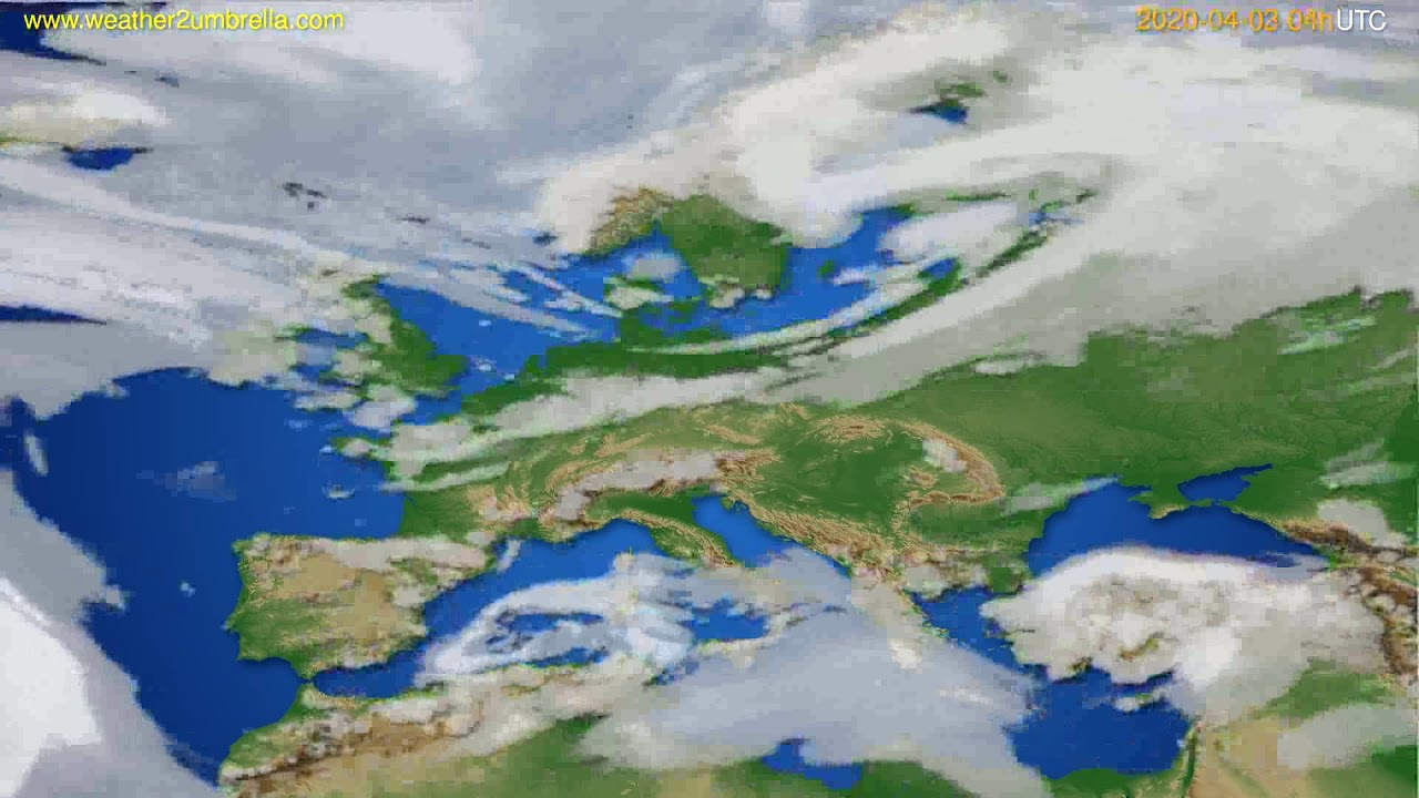 Cloud forecast Europe // modelrun: 12h UTC 2020-04-02