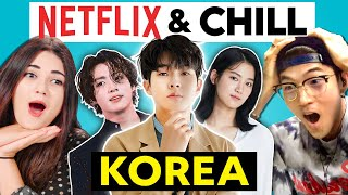 Reacting To The Ultimate NETFLIX KOREA AND CHILL Playlist (KDrama, KPop)