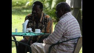 Developing Story: Raila Odinga meeting former President Mwai Kibaki at his Muthaiga Home