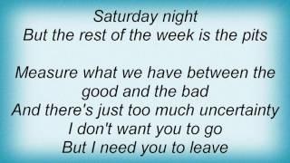 Aaron Watson - I Don't Want You To Go Lyrics