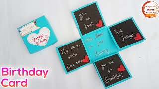 Beautiful Birthday Card Idea In Lockdown | Handmade Birthday Card | How To Make Birthday Card