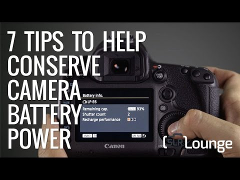 Seven Ways To Conserve Battery On Your DSLR