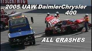 All NASCAR Crashes From The 2005 UAW Daimler Chrysler 400