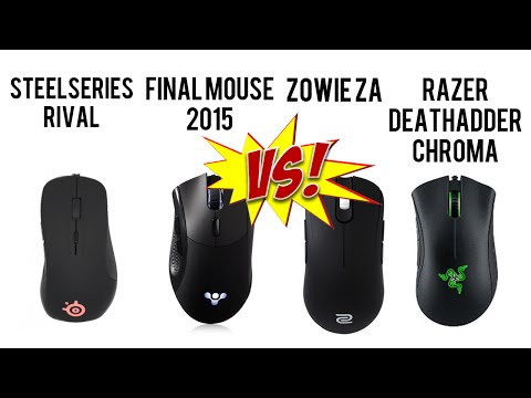 Mouse Review Video by Pro Gamer – DeathAdder Chroma, Final Mouse 2015, Zowie ZA11, Steelseries Rival