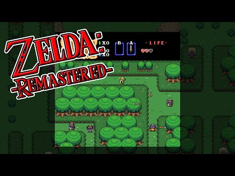 Zelda: Remastered Gameplay (Mesen NES HD Pack)