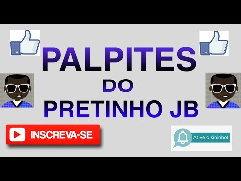 PALPITE DO JOGO DO BICHO - PARA O DIA 13/10/2019