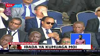 Rais Uhuru Kenyatta aliwaongoza wakenya kwa ibada ya wafu ya Mzee Moi