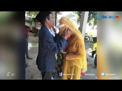 Wow, Kakek 83 Tahun di Tegal Nikahi Gadis 27 Tahun