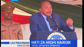 President Uhuru's unequivocal dismissal of pro-Engineer Kamau demonstration in Nyeri