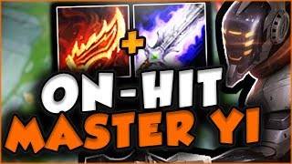 DOUBLE TRUE DAMAGE?? NEW MASTER YI ON-HIT IS SO FUN! MASTER YI TOP GAMEPLAY! - League of Legends