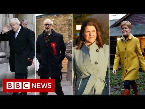 General election 2019: Political party leaders go to the polls - BBC News