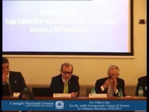 avv. prof   Fabio Ciani   La Voluntary Disclosure 19/02/2015
