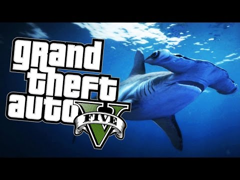 GTA 5 Next Gen - SHARK SIMULATOR - Grand Theft Auto V Funny Moments