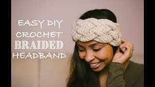 DIY Crochet Five Strand Braided Headband