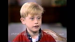 MACAULAY CULKIN - FIRST 'HOME ALONE' INTERVIEW
