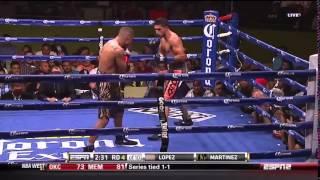 Смотреть онлайн Хосесито Лопес вышел на ринг с Ароном Мартинесом