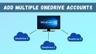 Add/Link Multiple OneDrive Accounts in One Windows 10 PC