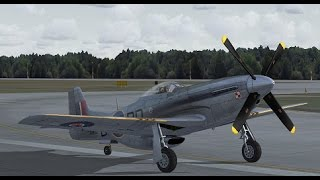 preview picture of video 'Flight Simulator X P-51 MK IV 303' Polish Fighter Squadron.'
