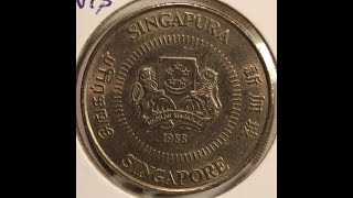 Singapore 50 Cents and Dollar Coins