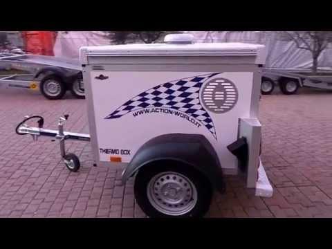 Rimorchio trasporto cani con ventilazione e temperatura regolabile interna