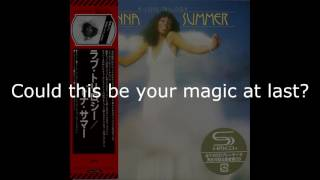 """Donna Summer - Intro: Prelude to Love / Could It Be Magic LYRICS - SHM """"A Love Trilogy"""" 1976"""