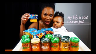 3 Jars In 3 Min Baby Food Challenge (1 Entree 1 Vegetable 1 Dessert) Epic Empire