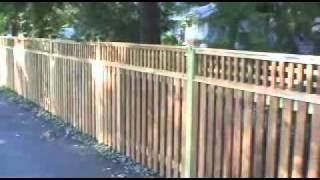 Mid Atlantic Deck and Fence Co. Cedar Fence Square Lattice
