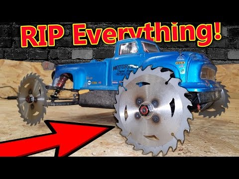World's Most Dangerous Toy! RIP SAW RC CAR