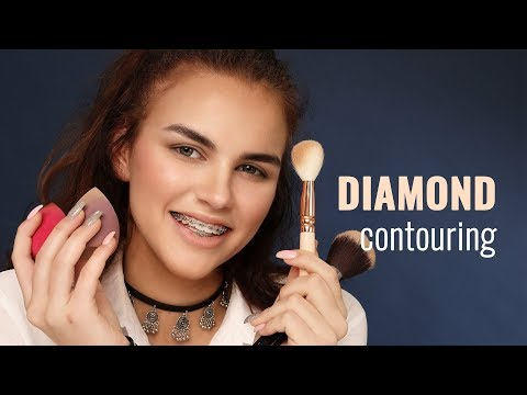 Contouring for diamond-shaped faces