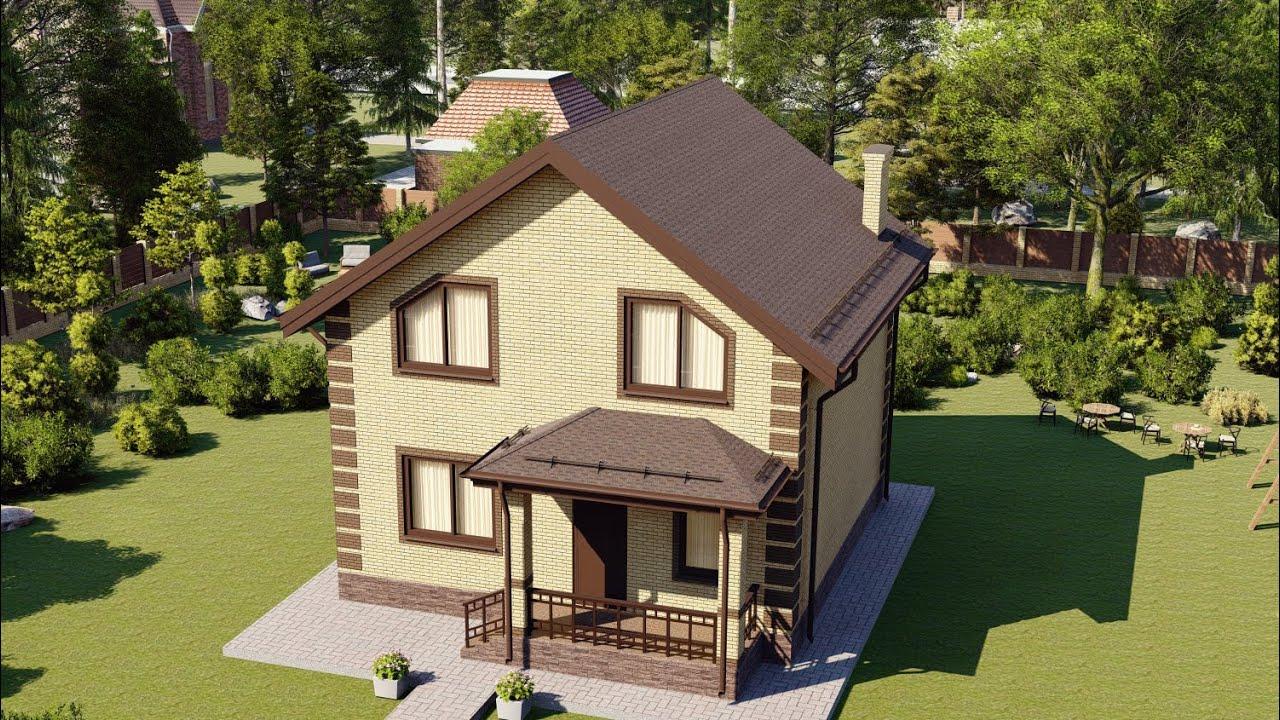 Проект дома 107-B, Площадь дома: 107 м2, Размер дома:  8,8x9,1 м