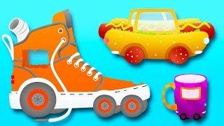 Мультики. МАШИНКИ из разных ПРЕДМЕТОВ - Виды транспорта. Видео для детей