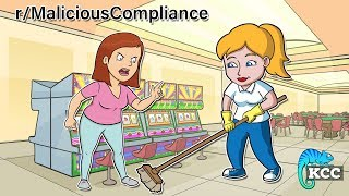 r/MaliciousCompliance | I'm not allowed to clean if a customer is nearby? Game On. | #130