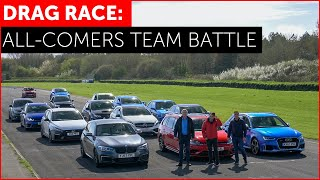 DRAG RACE *FUN*. RS3, M140i, Golf R, Focus RS, A45 AMG, i30N, Impreza. Hot Hatch w/ Tiff Needell