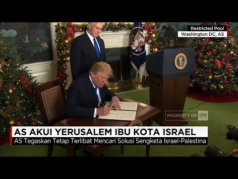 Dunia Geger! Presiden AS Donald Trump Akui Yerusalem Ibukota Israel